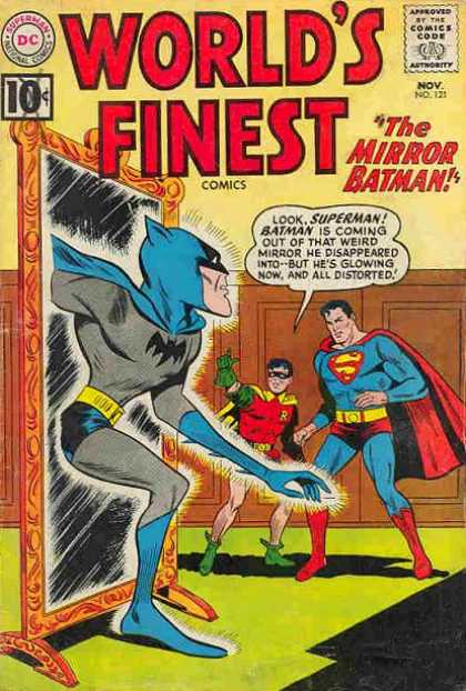 World's Finest 121 - Superman National Comics - Approved By The Comics Code - The Mirror Batman - Robin - Superman