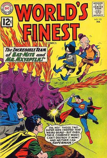 World's Finest 123 - Comics Code - The Incredible Team - Bat-mite - Mrmxyzpitlk - Monster