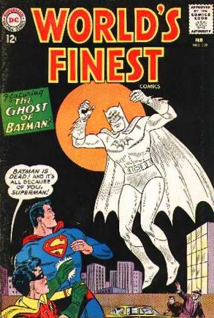 World's Finest 139 - The Ghost Of Batman - Superman - Moon - City - Car