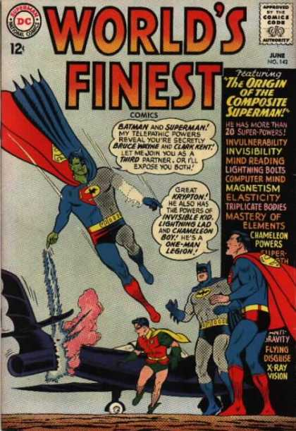 World's Finest 142 - Dc Comics - June - No 142 - The Origin Of The Composite Superman - He Has More Than 20 Super Powers