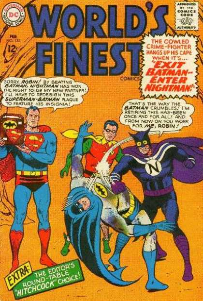 World's Finest 155 - Batman - Robin - Superman - Exit Batman-- Enter Nightman - Fighting
