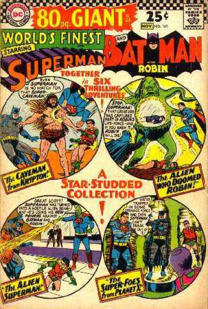 World's Finest 161 - Batman And Robin - Superman - Caveman From Krypton - Alien Who Doomed Robin - Star-studded Collection