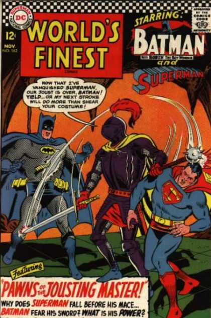 World's Finest 162 - Batman - Superman - November - Sword - Pawns Of The Jousting Master