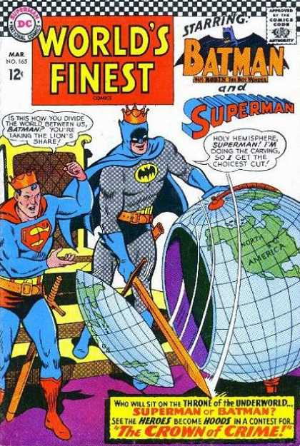 World's Finest 165 - Batman - Superman - Dc Comics - Globe - Crown Of Crime