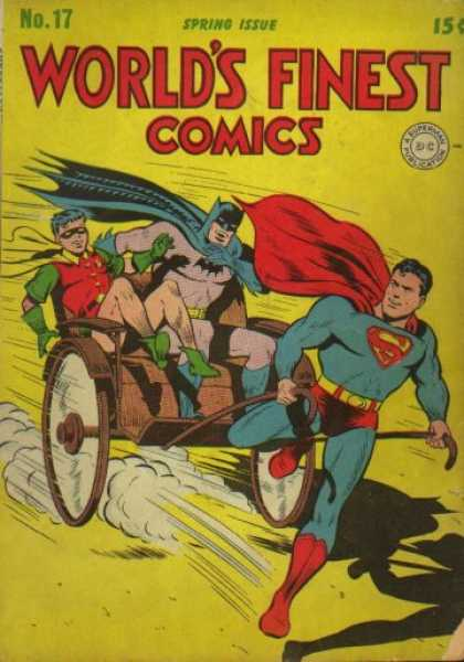 World's Finest 17 - Superman - Batman - Robin - Cart - Capes