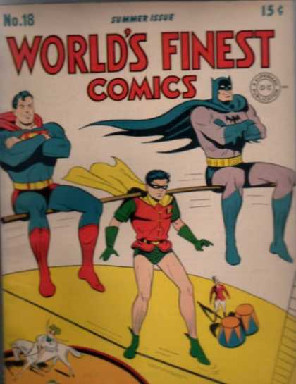 World's Finest 18 - Superheroes - Robin - Batman - Superman - Circus