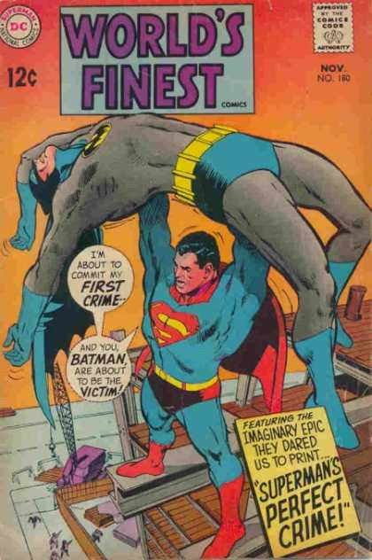 World's Finest 180 - Superman - National Comics - Dc - Approved By The Comics Code Authority - Batman