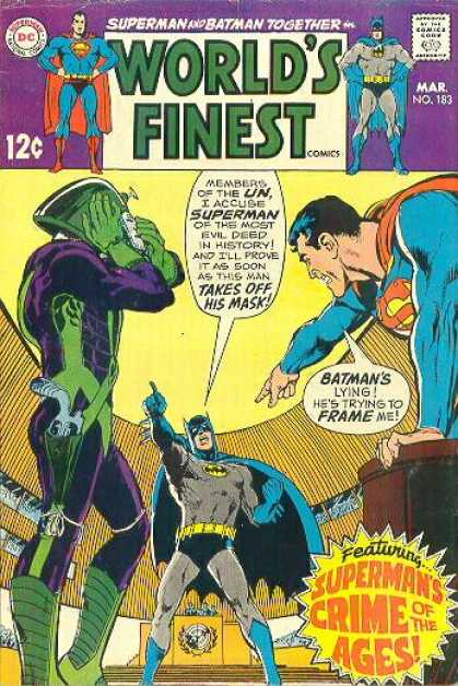 World's Finest 183 - Superman - Batman - Crime Of The Ages - Mask - Un