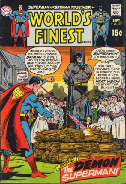 World's Finest 187 - Speech Bubble - Thought Bubble - Superman - Batman - Superhero