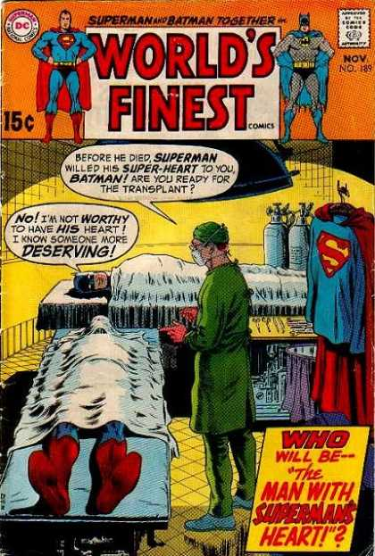 World's Finest 189 - Superman - Batman - Heart Transplant - Surgery - Death Of Superman