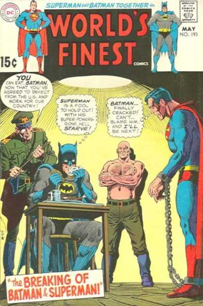 World's Finest 193 - Superman - Batman - Superman Is A Fool To Hold Out - Batman Finally Cracked - The Breaking Of Batman And Superman