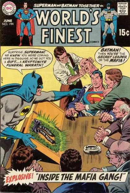 World's Finest 194 - Superman - Batman - Disguise - Kryptonite - Mafia