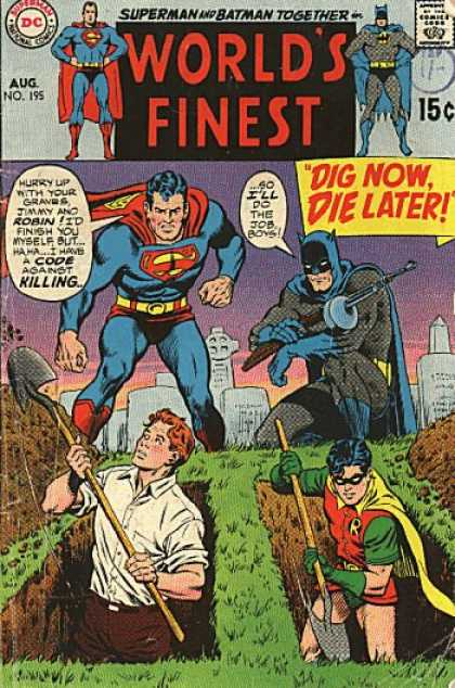 World's Finest 195 - Dig Now Die Later - Jimmy - Robin - Digging - Graves