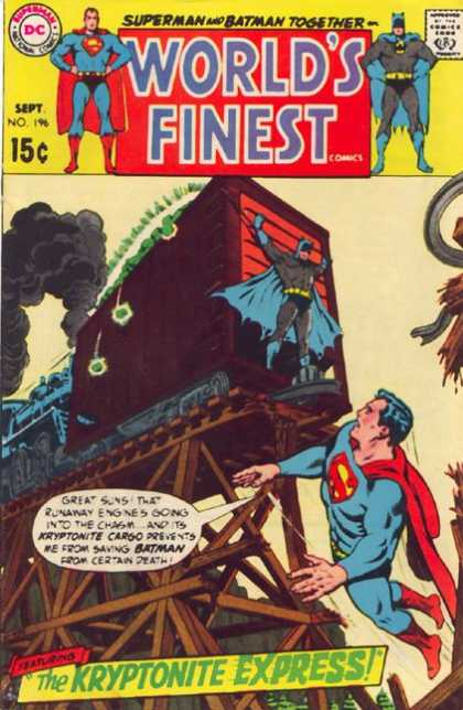 World's Finest 196 - Superman And Batman - No 196 - The Kryptonite Express - Train - Sept