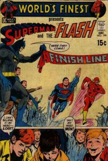World's Finest 199 - Superman - Flash - Batman - Finish Line - Race