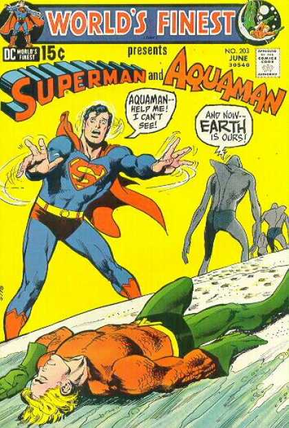 World's Finest 203 - Approved By The Comics Code Authority - Dc - Superman - Aquaman - June
