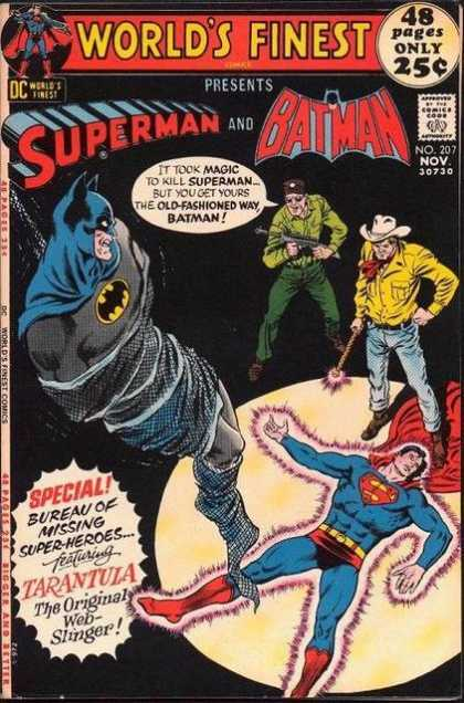 World's Finest 207 - Batman - Superman - Magic Wand - Tied Up - Man Holding Gun