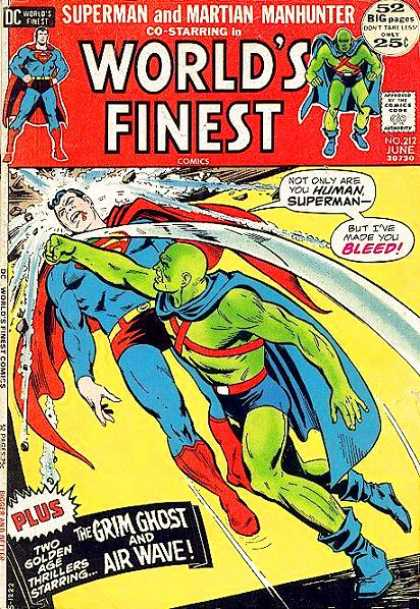 World's Finest 212 - Superman - Grim Ghost - Superhero - Plus - But Ive Made You Bleed