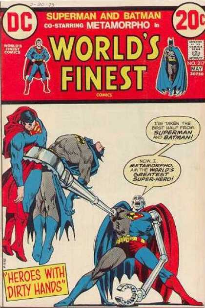 World's Finest 217 - Batman - Superman - Superhero - Cloth - Fighting