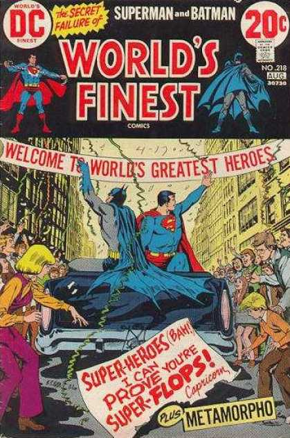 World's Finest 218 - Worlds Greatest Heroes - Superman - Batman - Metamorpho - Super-heroes