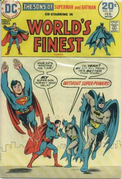 World's Finest 221 - Superman - Batman - Sons - Argument - Flying