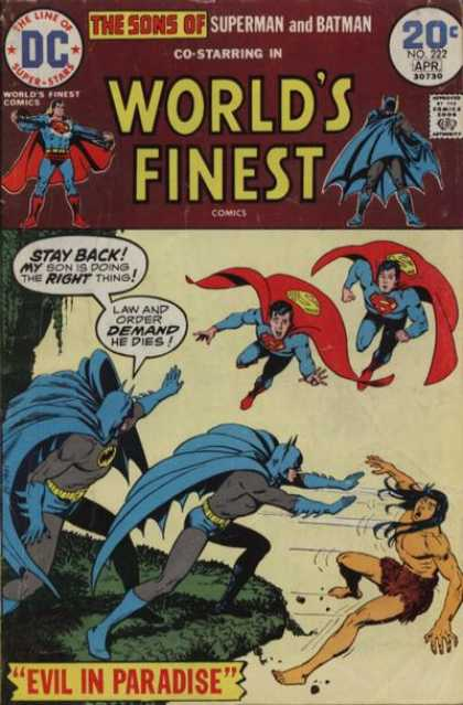World's Finest 222 - Batman - Superman - Death - Law And Order - Evil In Paradise
