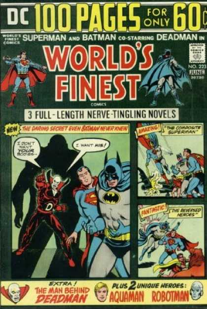 World's Finest 223 - Aquaman - Deadman - Robotman - Superman - Batman