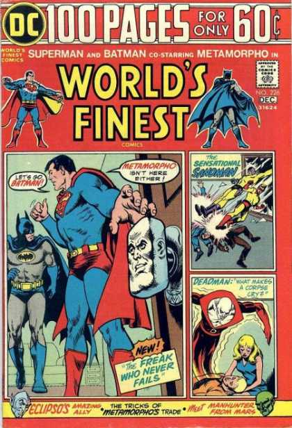 World's Finest 226 - Superman - Batman - Metamorpho - Sandman - Deadman