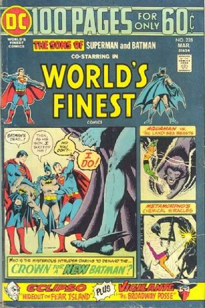 World's Finest 228 - Batman - Superman - Aquaman - Eclipso - Vigilante