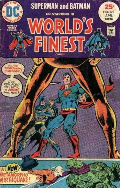 World's Finest 229 - Superman - Batman - Dc - Partner - Replaced