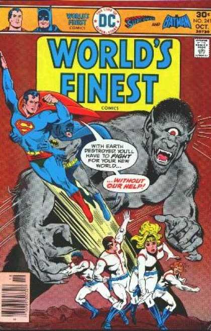 World's Finest 241 - Superman - Without Our Help - Cyclops - October - No 241