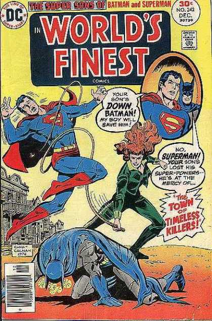 World's Finest 242 - Fearless Flame-haire Femme-fatale - Bat-drop - Flight Into Fear - Welcome To Town - Super-sorrow