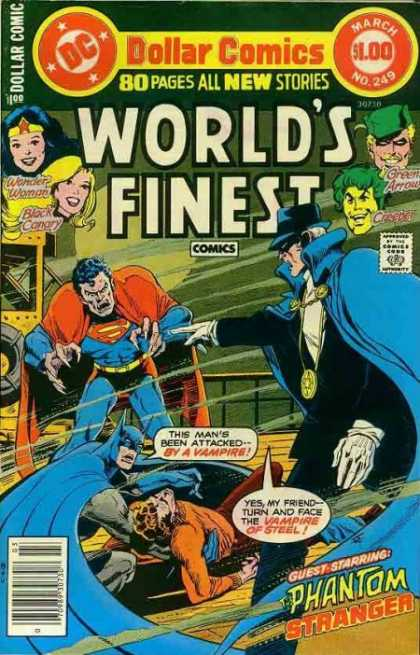 World's Finest 249 - Justice Leage - Batman And Robin - The Steel Vampire - Attacks Again - Vampire Bite At The Dead Of Night