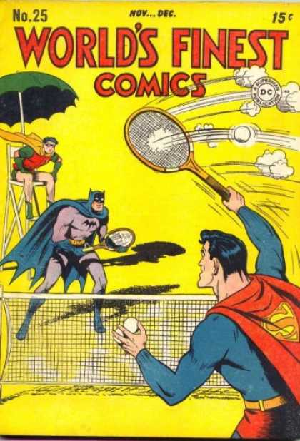 World's Finest 25 - No 25 Novdec - Tennis - Batman - Robin - Superman