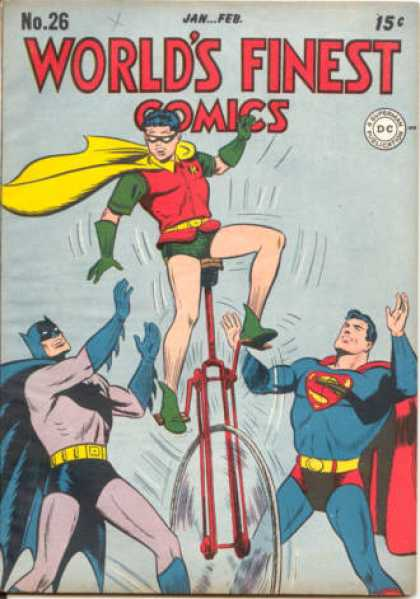 World's Finest 26 - No 26 - Janfeb - 15 Cents - Superman - Robin