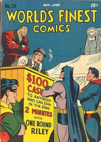 World's Finest 28 - Batman - Superman - Boxing - One Round Riley - Tarpaulin