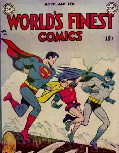 World's Finest 38 - Superman - National Comics - Dc - Belt - Janfeb