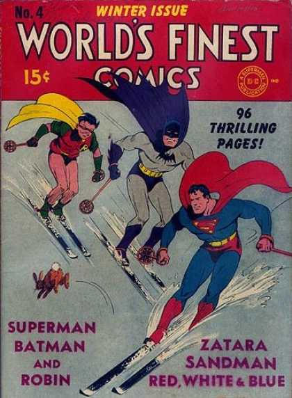 World's Finest 4 - Superman - Batman - Wearing Mask - Scatting - Snowfall