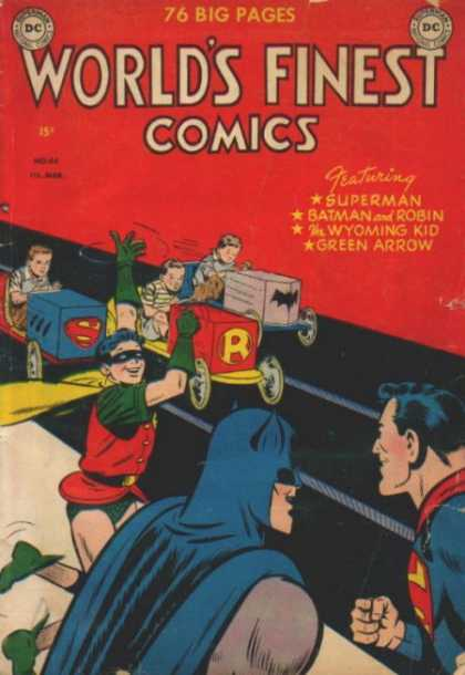 World's Finest 44 - Superman - Batman - Robin - Kids - Race