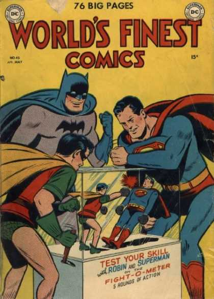 World's Finest 45 - Fight - Game - Test Your Skill - Robin - Superman