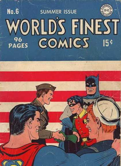 World's Finest 6 - Soldier - Batman - Superman - Robin - American Flag