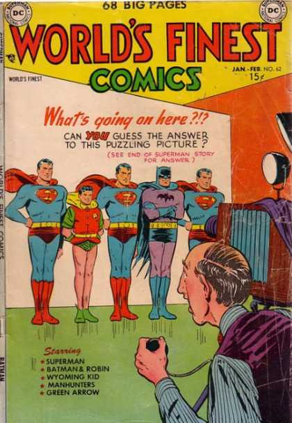 World's Finest 62 - Superman - Batman U0026 Robin - Wyoming Kid - Manhunters - Green Arrow