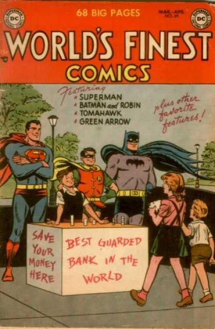 World's Finest 69 - Superman - Batman - Tomahawk - Green Arrow - Est Guarded Bank In The World