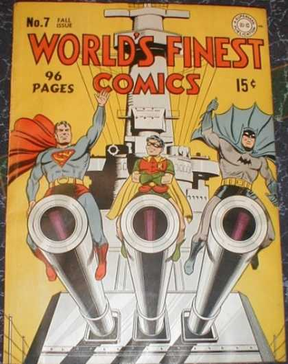 World's Finest 7 - No 7 Fall Issue - Worlds Finest Comics - 96 Pages - 15 Cents - Superman Batman Robin