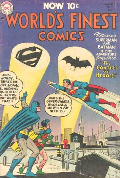 World's Finest 74 - Superman - Batman - Robin - The Contest Of Heroes - Superheroes