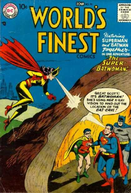 World's Finest 90 - Superman - Batman - Super Batwoman - Cave - X-ray Vision
