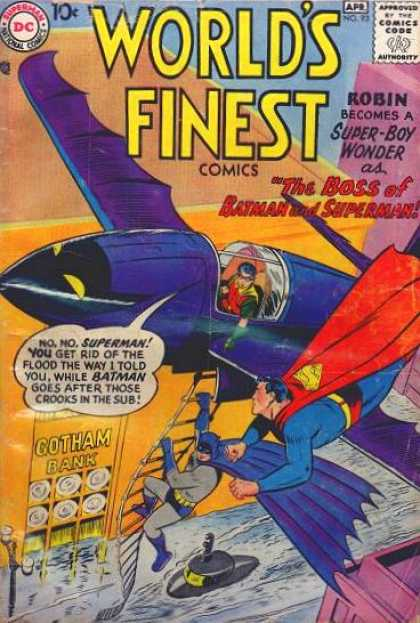 World's Finest 93 - Dc - Airplane - Robin - Boss - Superman