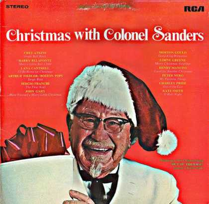 Worst Xmas Album Covers - Finger lickin' good.