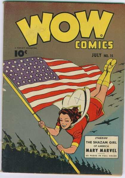 Wow Comics 15 - Flag - Stars - July - Aircraft - Pages