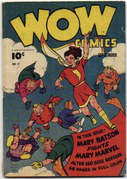 Wow Comics 17 - September - Mary Batson - Mary Marvel - No17 - Shoe